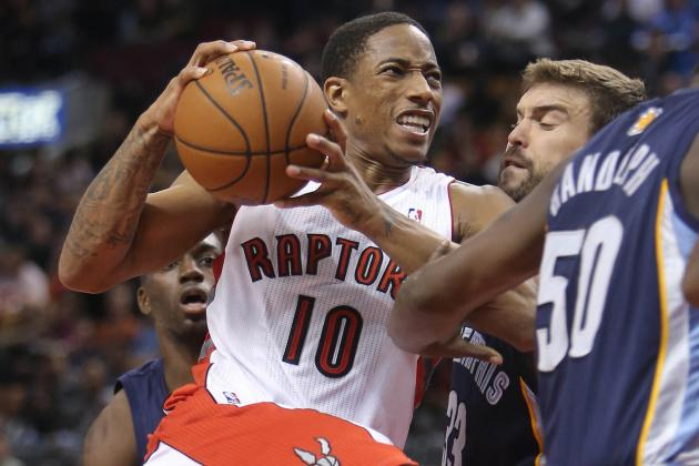 Can DeMar DeRozan and Rudy Gay Help Toronto Rise in the East's Muddled Middle?