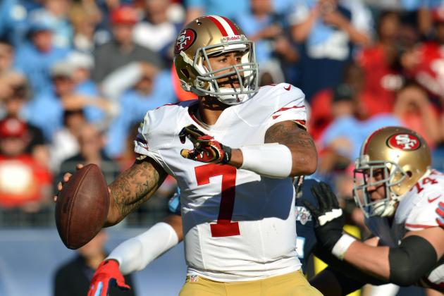 Colin Kaepernick Is Top Fantasy Option in Week 8 Against Jacksonville