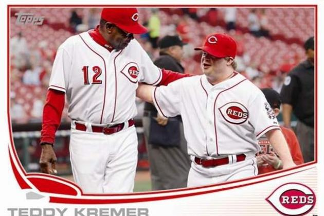 Reds Fans' Favorite Batboy, Ted Kremer, Immortalized with Topps Baseball Card