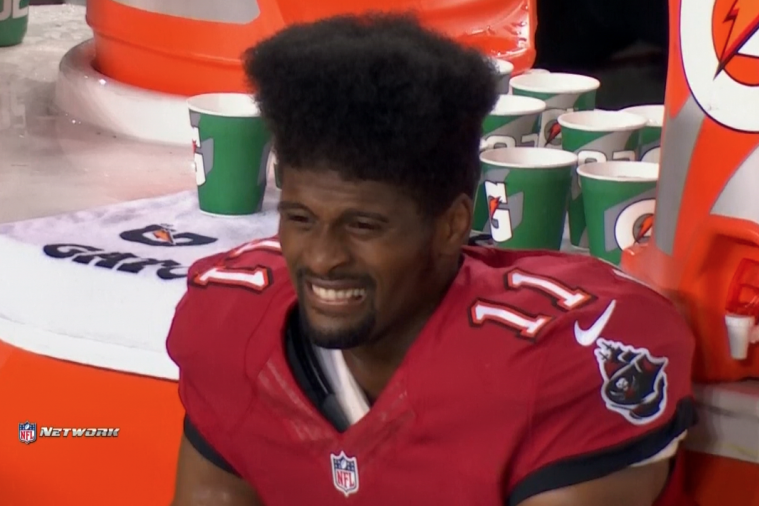 Buccaneers' Wide Receiver Tiquan Underwood Has the Best Hair in the NFL