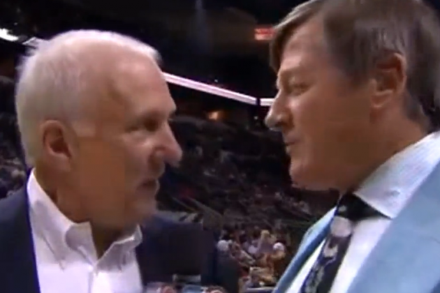 Gregg Popovich Has Even Less Time for Craig Sager's Preseason Interviews