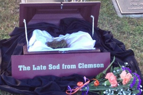 FSU Commemorates Victory over Clemson with Burial at Famed Sod Cemetery