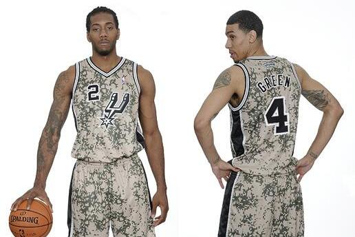 San Antonio Spurs Camo Uniforms Are Perfect Way to Honor US Military