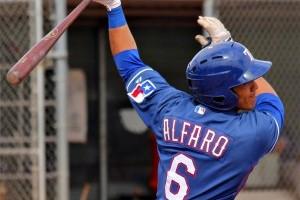 Rangers' Alfaro Honing Skills with Duty in AFL