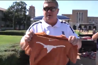 Video: Rice Holds 'T-Shirt Trade Up Day'