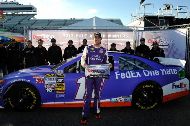 Denny Hamlin Wins Martinsville Pole, Seeks First Win of the Season