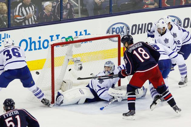 Blue Jackets Score 4 in Third to Beat Leafs