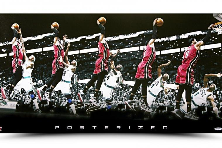 Upper Deck Turned LeBron James' Dunk on Jason Terry into an Epic Poster