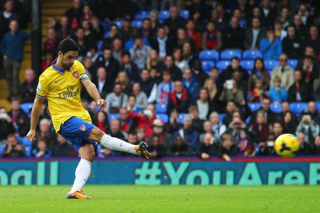 GIF: Mikel Arteta Scores and Then Is Sent off for Arsenal at Crystal Palace