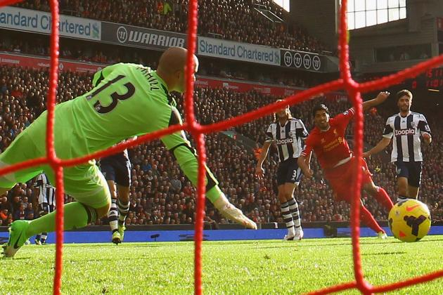 GIF: Luis Suarez Scores Sensational Hat-Trick for Liverpool vs. West Brom