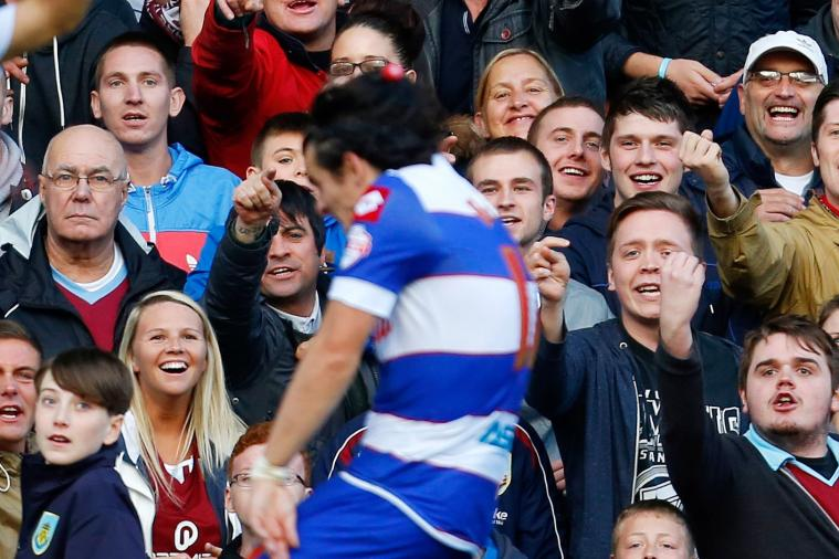 Joey Barton Hit on the Head by a Coke Bottle at Burnley