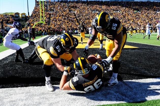 Iowa Scores in OT to Beat Northwestern 17-10