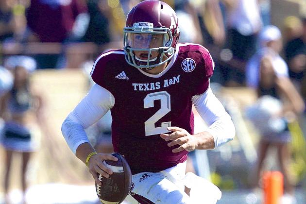 Shoulder Injury? Texas A&M QB Johnny Manziel Is Fine, and Back in Heisman Mix