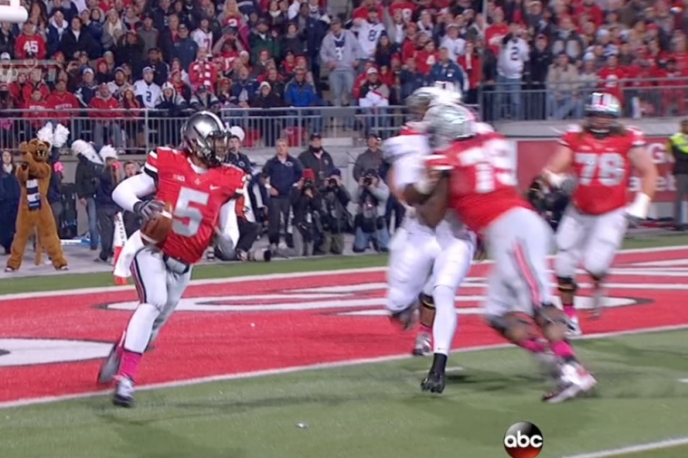Ohio State Offensive Lineman Absolutely Destroys Penn State Defensive Lineman