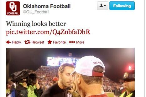 Oklahoma Takes to Twitter to Mock Texas Tech Coach Kliff Kingsbury's Good Looks