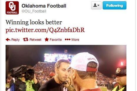 Oklahoma Takes to Twitter to Mock Texas Tech Coach Kliff Kingsbury's Good Looks