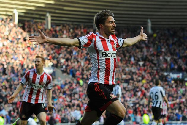 GIF: Fabio Borini Scores Long-Range Belter to Win Newcastle Derby for Sunderland