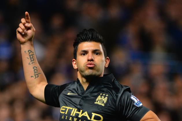 GIF: Sergio Aguero Rattles Home Equaliser for Manchester City vs. Chelsea