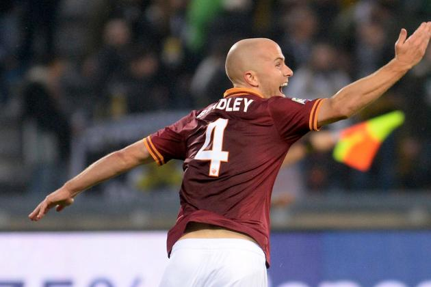 Michael Bradley Scores Winning Goal in as Roma's Record 9th Straight Victory