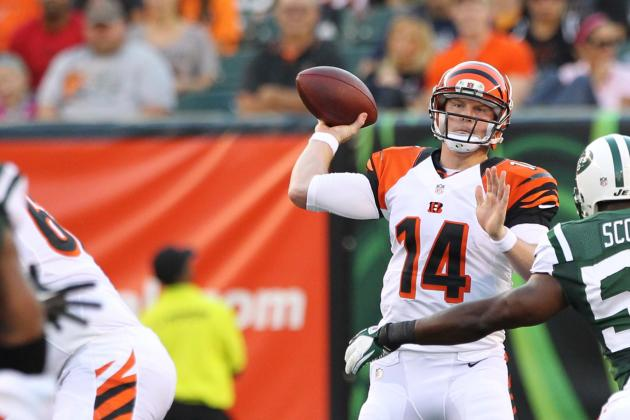 Dalton Throws 5 TDs, Bengals Drub Jets 49-9