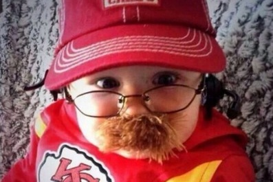 This Cute Baby Dressed Up as Chiefs Head Coach Andy Reid Is the Best