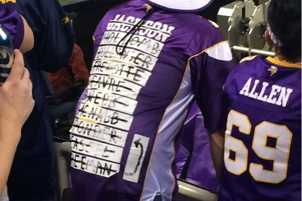 Minnesota Vikings Jersey Gets the Cleveland Browns QB-Jersey Treatment