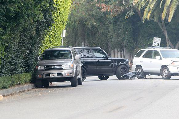 David Beckham Car Crash: Photos and Updates from Fender Bender