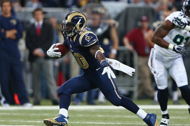Stacy Rushes for 134 Yards vs. Seahawks