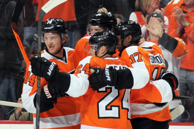 Flyers 'Lucky' to Be Close in Standings