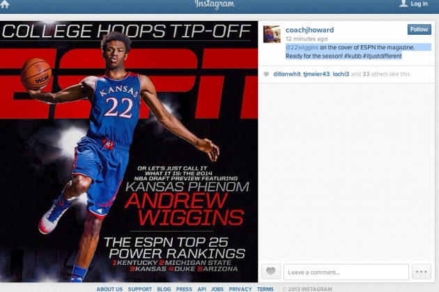 Instagram: Wiggins Appears on ESPN Magazine Cover