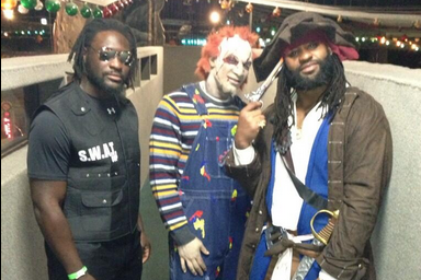 Blount, Talib Spikes Dressed Up for Halloween
