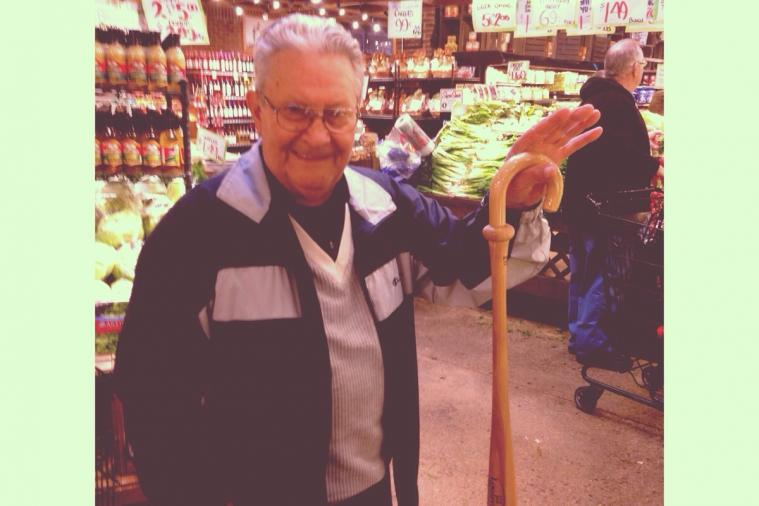 Man with a Louisville Slugger Cane Proves Love for the Game Never Fades