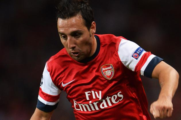 GIF: Santi Cazorla Nutmegs Michael Essien in Capital One Cup