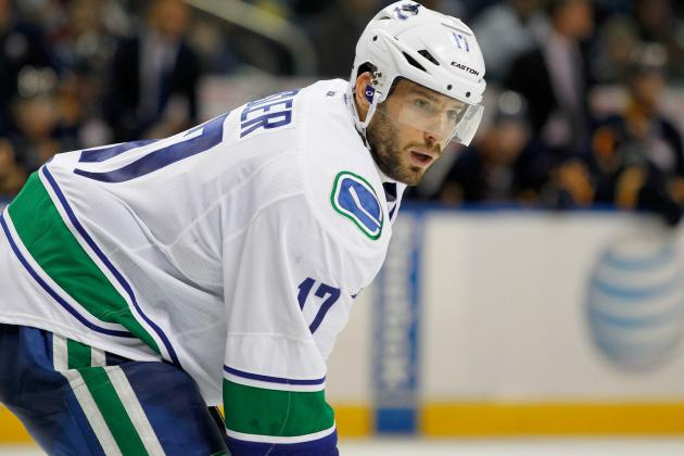 Vancouver Canucks Forward Ryan Kesler Excelling After Shift to Wing