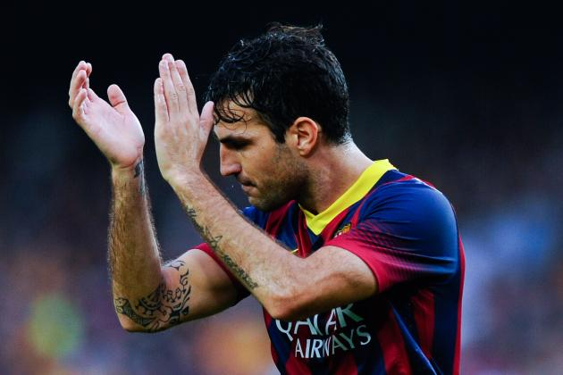 GIF: Cesc Fabregas Needs Luck to Finish Amazing Barcelona Goal vs. Celta Vigo