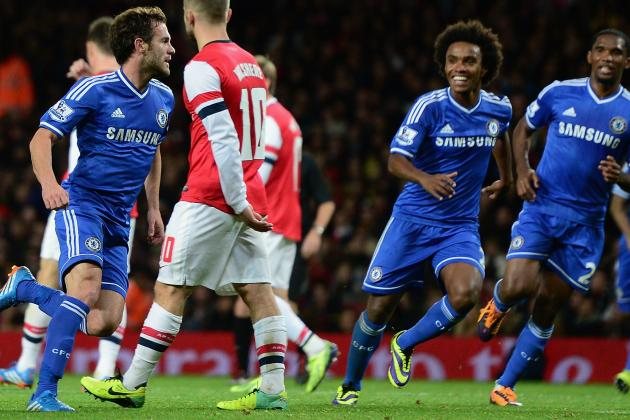 Juan Mata and Cesar Azpilicueta Help Chelsea Stun Arsenal in Capital One Cup