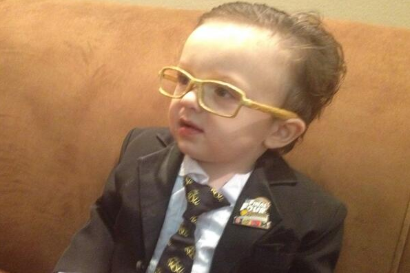 PHOTO: Baby as Wichita State's Gregg Marshall for Halloween