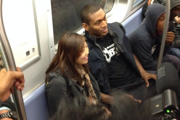 Metta World Peace Rode the Subway to His First New York Knicks Game
