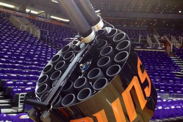 The Phoenix Suns Have the Biggest and Baddest T-Shirt Gun in the NBA