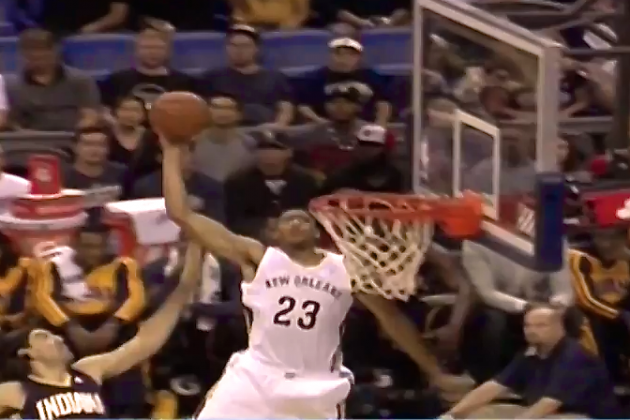 Watch Anthony Davis Throw Down Monster Alley-Oop in Pelicans Opener
