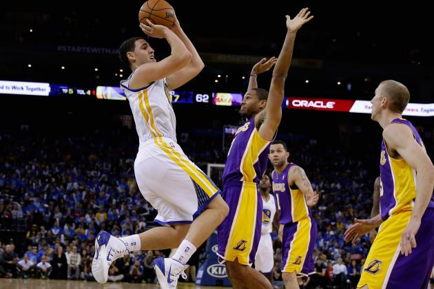 Golden State Warriors Guard Klay Thompson Erupts in Opener