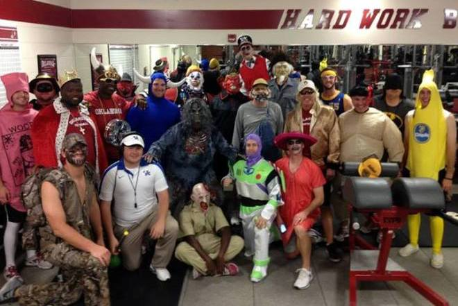 Oklahoma Sooners Football Coaches Wear Costumes During Practice