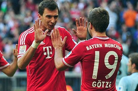 Mario Götze and Mandzukic Are Instrumental in Continued Bayern Dominance