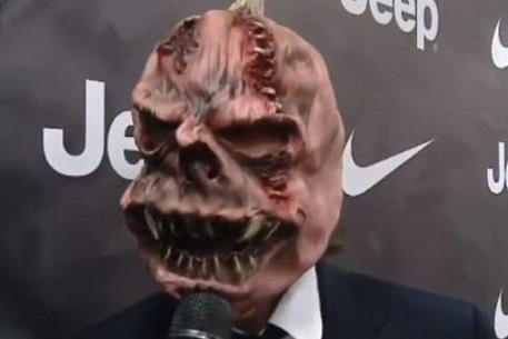 Which Juventus Midfielder Was Wearing Halloween Mask for Interview