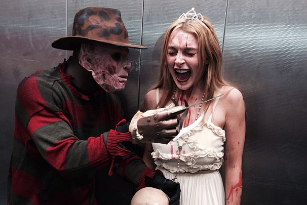 Floyd Mayweather and Lindsay Lohan Dress as Freddy Krueger and Carrie