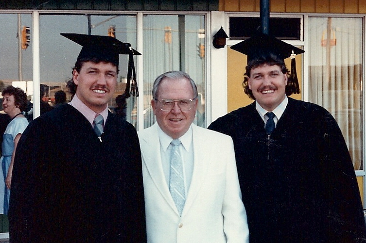 Rex and Rob Ryan's Graduation Picture Shows They Had Kenny Powers Hair