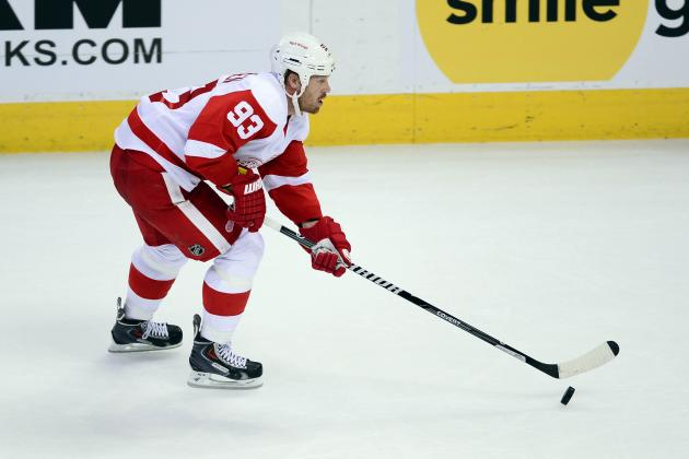 Zetterberg Says Johan Franzen Due for 'a Mule Game' Friday vs. Flames