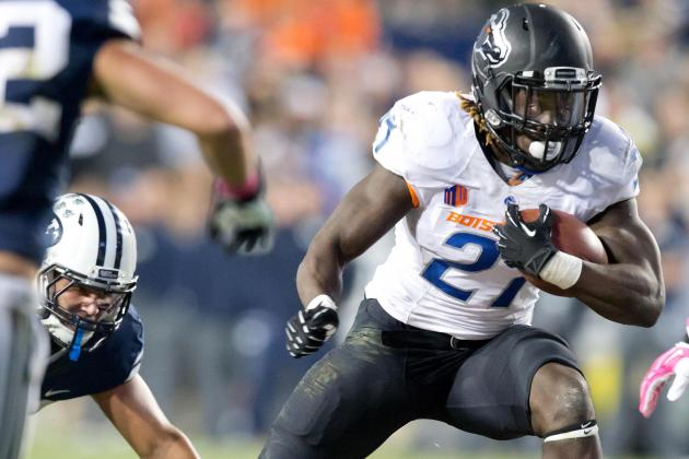 Tailback Jay Ajayi Closes in on 1,000-Yard Mark for Boise State Football
