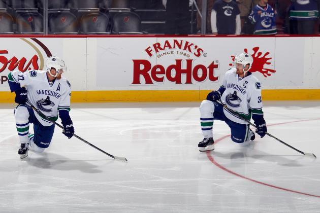 Vancouver Canucks Cement Current Path with Sedin Extensions