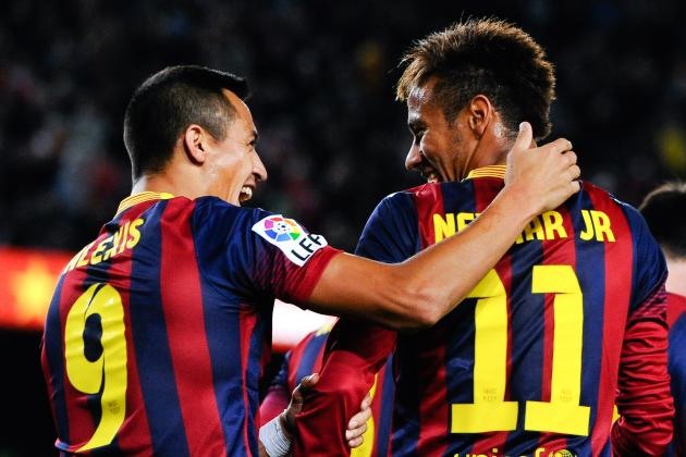 GIF: Neymar's Double Nutmeg Assist Sets Up Alexis Sanchez for Barcelona Winner